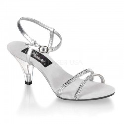 Belle Rhinestone Silver Sandal - Size 11 Sensual Elegance Sexy Womens Lingerie & Clothing for All Sizes - Clubwear, Bridal & Plus Size Lingerie
