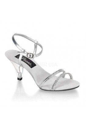 Belle Rhinestone Silver Sandal Sensual Elegance Fashion, Lingerie and Shoes Women's Sexy Clothing & Lingerie - Clubwear, Plus Size Clothing & Accessories