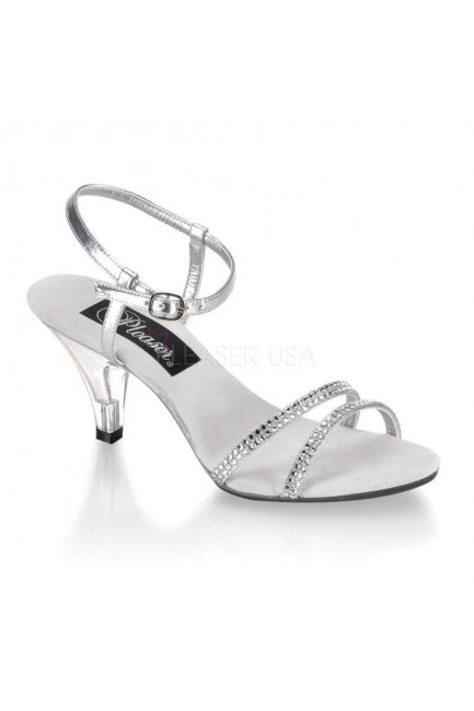 Belle Rhinestone Silver Sandal - Size 11 at Sensual Elegance Fashion, Lingerie and Shoes, Women's Very Sexy Lingerie & Clothing - Clubwear, Bridal Lingerie & Plus Size Lingerie