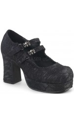 Black Lace Double Strap Gothika Mary Jane