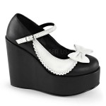 Black and White Collar Mary Jane Pump