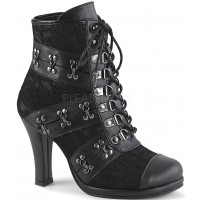 Glam Victorian Gothic Ankle Boot