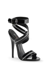 Zippered Domina High Heel Sandal