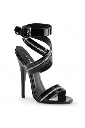 Zippered Domina High Heel Sandal Sensual Elegance Fashion, Lingerie and Shoes Women's Sexy Clothing & Lingerie - Clubwear, Plus Size Clothing & Accessories
