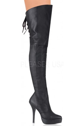 Indulge Leather Thigh High Platform Boot Sensual Elegance Fashion, Lingerie and Shoes Women's Sexy Clothing & Lingerie - Clubwear, Plus Size Clothing & Accessories