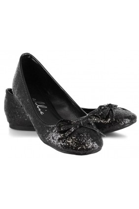 Black Glitter Mila Ballet Flats Sensual Elegance Fashion, Lingerie and Shoes Women's Sexy Clothing & Lingerie - Clubwear, Plus Size Clothing & Accessories