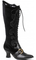 Fain Black Velvet Witches Boot
