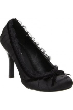 Satin Doll Black High Heel Pump Sensual Elegance Fashion, Lingerie and Shoes Women's Sexy Clothing & Lingerie - Clubwear, Plus Size Clothing & Accessories