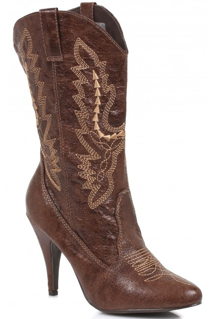 Brown Scrolled Cowgirl Boots at Sensual Elegance Fashion, Lingerie and Shoes, Women's Sexy Clothing & Lingerie - Clubwear, Plus Size Clothing & Accessories