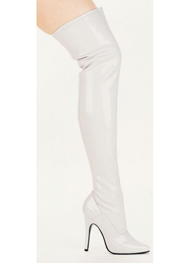 Ally White Over the Knee Thigh Boot - 5