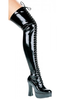 Olivia Lace Up Thigh High Platform Boots Sensual Elegance Fashion, Lingerie and Shoes Women's Sexy Clothing & Lingerie - Clubwear, Plus Size Clothing & Accessories