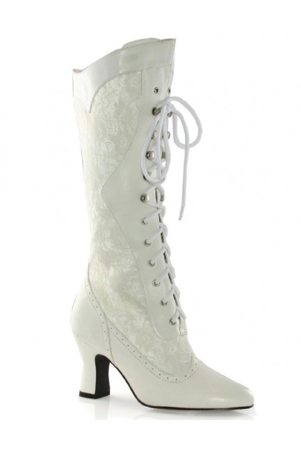 Rebecca Victorian White Lace Boot at Sensual Elegance Fashion, Lingerie and Shoes, Women's Sexy Clothing & Lingerie - Clubwear, Plus Size Clothing & Accessories