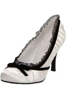 Satin Doll White High Heel Pump Sensual Elegance Fashion, Lingerie and Shoes Women's Sexy Clothing & Lingerie - Clubwear, Plus Size Clothing & Accessories