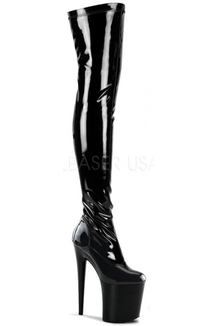 Flamingo 8 Inch Heel Thigh High Platform Boot at Sensual Elegance Fashion, Lingerie and Shoes, Women's Sexy Clothing & Lingerie - Clubwear, Plus Size Clothing & Accessories