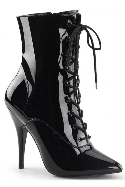 Seduce 1020 5 Inch Heel Black Patent Ankle Boot at Sensual Elegance Fashion, Lingerie and Shoes, Women's Sexy Clothing & Lingerie - Clubwear, Plus Size Clothing & Accessories