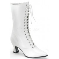 White Victorian Ankle Boot