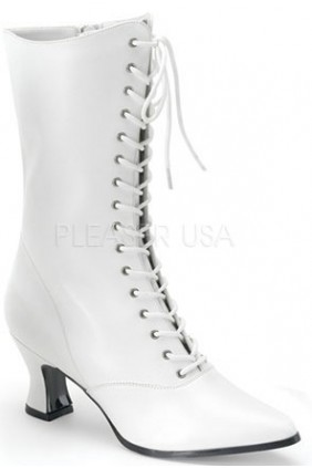 White Victorian Steampunk Ankle Boots Sensual Elegance Fashion, Lingerie and Shoes Women's Sexy Clothing & Lingerie - Clubwear, Plus Size Clothing & Accessories