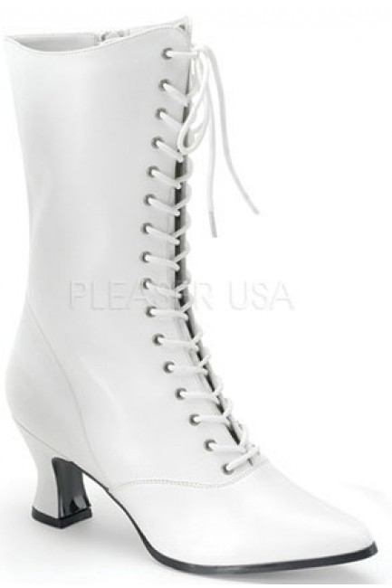 White Victorian Steampunk Ankle Boots at Sensual Elegance Fashion, Lingerie and Shoes, Women's Sexy Clothing & Lingerie - Clubwear, Plus Size Clothing & Accessories