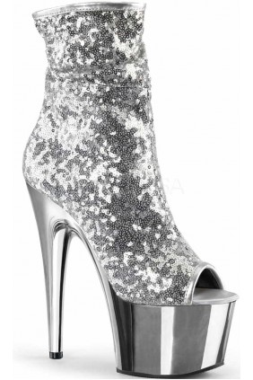 Silver Sequin Adore Platform Ankle Boots Sensual Elegance Fashion, Lingerie and Shoes Women's Sexy Clothing & Lingerie - Clubwear, Plus Size Clothing & Accessories