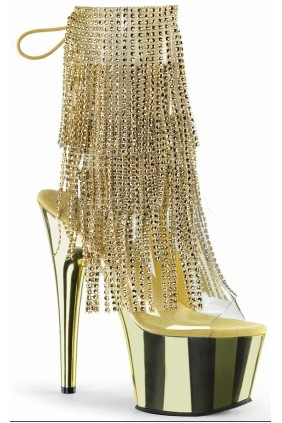 Gold Rhinestone Fringe Platform Ankle Boot Sensual Elegance Fashion, Lingerie and Shoes Women's Sexy Clothing & Lingerie - Clubwear, Plus Size Clothing & Accessories