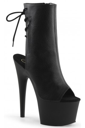 Black Peep Toe and Heel Platform Ankle Boot Sensual Elegance Fashion, Lingerie and Shoes Women's Sexy Clothing & Lingerie - Clubwear, Plus Size Clothing & Accessories