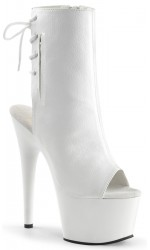 White Peep Toe and Heel Platform Ankle Boot