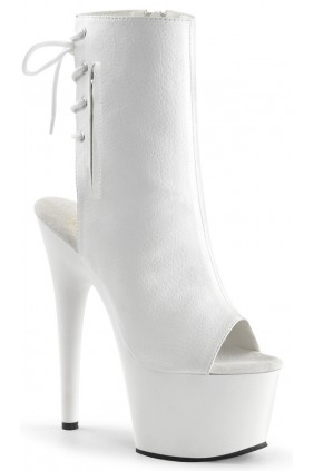 White Peep Toe and Heel Platform Ankle Boot Sensual Elegance Fashion, Lingerie and Shoes Women's Sexy Clothing & Lingerie - Clubwear, Plus Size Clothing & Accessories