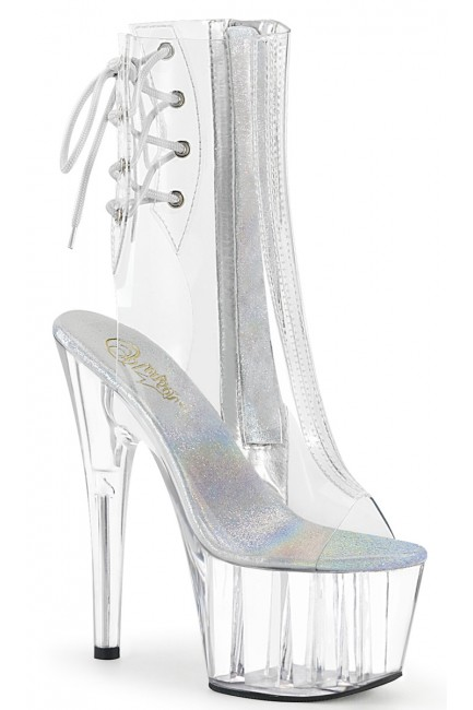 Clear Platform Adore Ankle Boot at Sensual Elegance Fashion, Lingerie and Shoes, Women's Sexy Clothing & Lingerie - Clubwear, Plus Size Clothing & Accessories