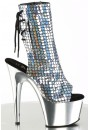 Mermaid Silver Hologram Ankle Boot at Sensual Elegance Fashion, Lingerie and Shoes, Women's Sexy Clothing & Lingerie - Clubwear, Plus Size Clothing & Accessories