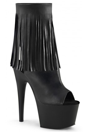 Fringed Black Peep Toe and Heel Platform Ankle Boot Sensual Elegance Fashion, Lingerie and Shoes Women's Sexy Clothing & Lingerie - Clubwear, Plus Size Clothing & Accessories