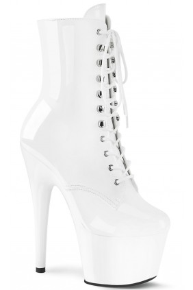 Adore White Patent Platform Granny Ankle Boot Sensual Elegance Fashion, Lingerie and Shoes Women's Sexy Clothing & Lingerie - Clubwear, Plus Size Clothing & Accessories