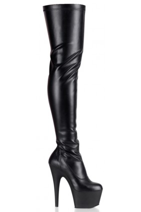 Adore Black Matte Thigh High Platform Boot Sensual Elegance Fashion, Lingerie and Shoes Women's Sexy Clothing & Lingerie - Clubwear, Plus Size Clothing & Accessories
