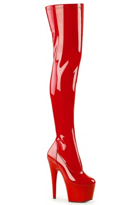 Adore Red Thigh High Platform Boot Sensual Elegance Fashion, Lingerie and Shoes Women's Sexy Clothing & Lingerie - Clubwear, Plus Size Clothing & Accessories