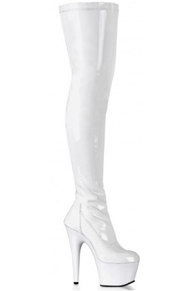Adore White Thigh High Platform Boot Sensual Elegance Fashion, Lingerie and Shoes Women's Sexy Clothing & Lingerie - Clubwear, Plus Size Clothing & Accessories