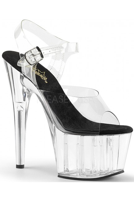 Clear Platform Clear Strap Platform Sandal at Sensual Elegance Fashion, Lingerie and Shoes, Women's Sexy Clothing & Lingerie - Clubwear, Plus Size Clothing & Accessories