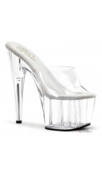 Adore Clear Platform High Heel Mule