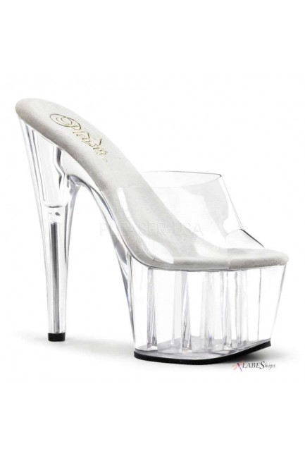 Adore Clear Platform High Heel Mule at Sensual Elegance Fashion, Lingerie and Shoes, Women's Sexy Clothing & Lingerie - Clubwear, Plus Size Clothing & Accessories