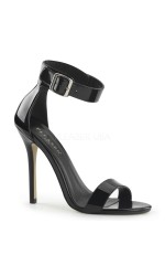 Amuse Black Ankle Strap Sandal