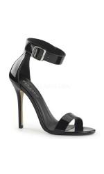 Amuse Black Ankle Strap Sandal