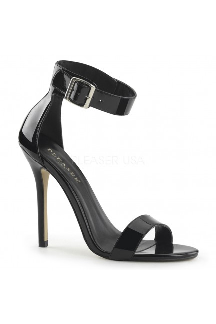 Amuse Black Ankle Strap Sandal at Sensual Elegance Fashion, Lingerie and Shoes, Women's Sexy Clothing & Lingerie - Clubwear, Plus Size Clothing & Accessories