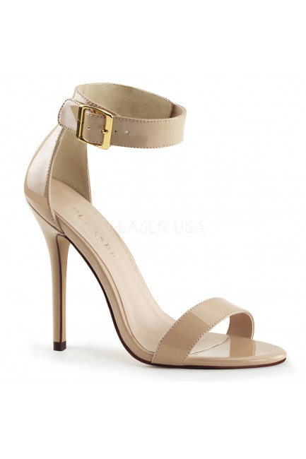 Amuse Cream Ankle Strap Sandal at Sensual Elegance Fashion, Lingerie and Shoes, Women's Sexy Clothing & Lingerie - Clubwear, Plus Size Clothing & Accessories