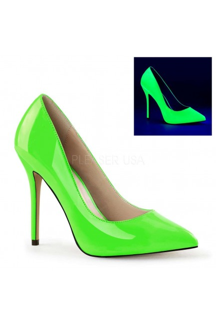 Amuse Neon Green 5 Inch High Heel Pump at Sensual Elegance Fashion, Lingerie and Shoes, Women's Sexy Clothing & Lingerie - Clubwear, Plus Size Clothing & Accessories