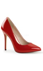 Amuse Red 5 Inch High Heel Pump