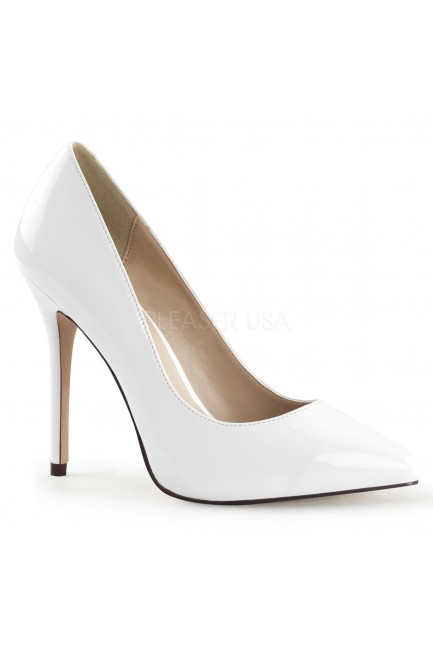 Amuse White 5 Inch High Heel Pump at Sensual Elegance Fashion, Lingerie and Shoes, Women's Sexy Clothing & Lingerie - Clubwear, Plus Size Clothing & Accessories
