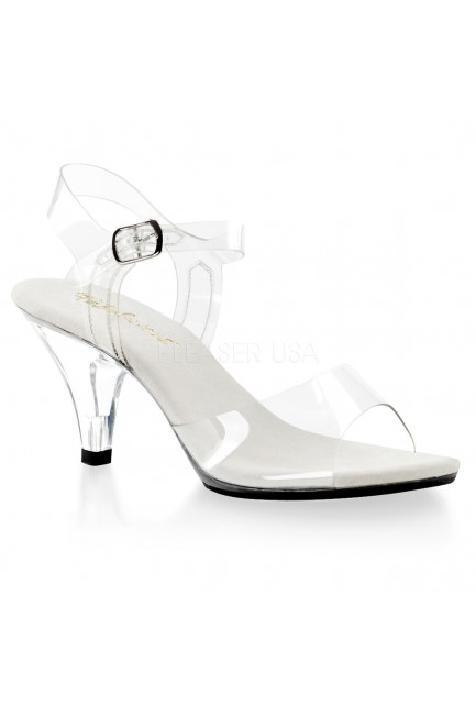 Belle Clear Peep Toe Sandal at Sensual Elegance Fashion, Lingerie and Shoes, Women's Sexy Clothing & Lingerie - Clubwear, Plus Size Clothing & Accessories