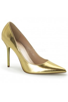 Gold Classique Pointed Toe Pump Sensual Elegance Fashion, Lingerie and Shoes Women's Sexy Clothing & Lingerie - Clubwear, Plus Size Clothing & Accessories