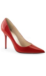 Red Classique Pointed Toe Pump
