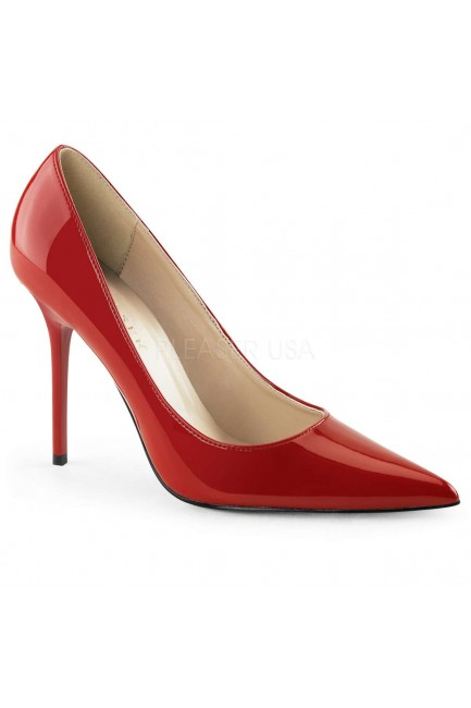Red Classique Pointed Toe Pump at Sensual Elegance Fashion, Lingerie and Shoes, Women's Sexy Clothing & Lingerie - Clubwear, Plus Size Clothing & Accessories