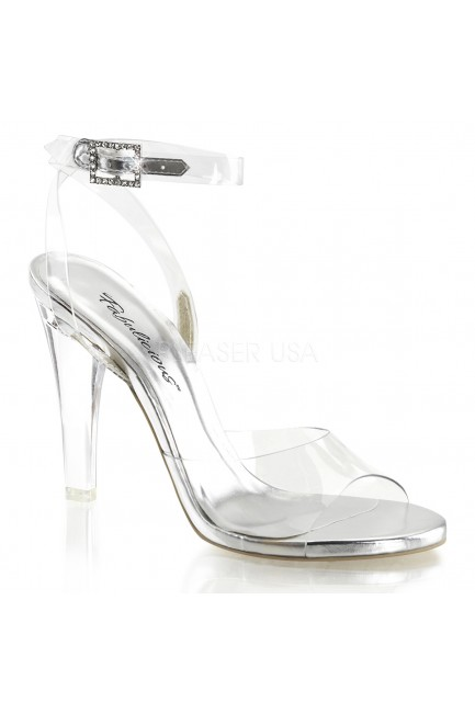 Clearly Beautiful Ankle Strap Sandal at Sensual Elegance Fashion, Lingerie and Shoes, Women's Sexy Clothing & Lingerie - Clubwear, Plus Size Clothing & Accessories