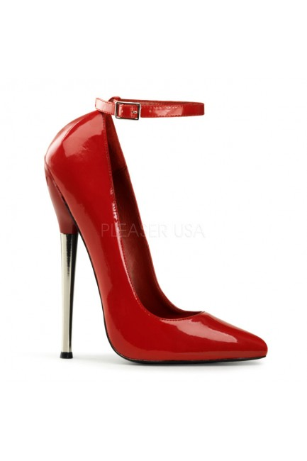 Dagger Red Extreme Heel Ankle Strap Pump at Sensual Elegance Fashion, Lingerie and Shoes, Women's Sexy Clothing & Lingerie - Clubwear, Plus Size Clothing & Accessories